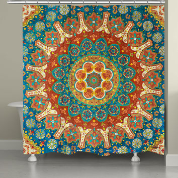 Spice Mandala Shower Curtain