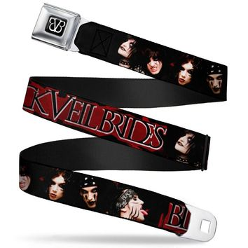 Black Veil Brides Men's  Faces Seatbelt Buckle Belt
