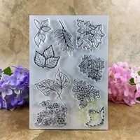 Various Leaves Clear Stamps for Scrapbook DIY photo cards account rubber stamp clear stamp transparent stamp  11*16CM