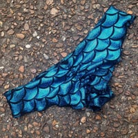 Turquoise Mermaid Scale Scrunch Bottoms