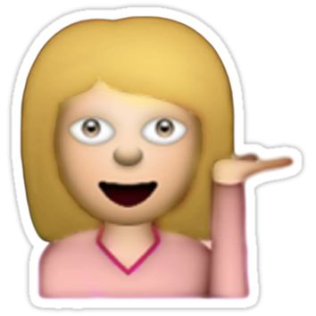 Blonde Hair Toss Emoji