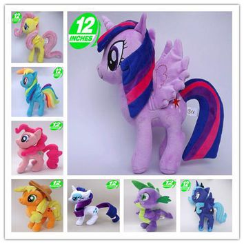 Unicorn Pets Horse Princess Celestia Princess Luna  Rarity Kunai Soft Plush Toys Animal Doll Christmas Little Gift