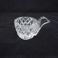 Vintage Crystal Egg Cup, Clear Crystal Egg Cup, Chicken Egg Cup