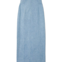 The Row  Highwaisted Denim Skirt - ShopBAZAAR
