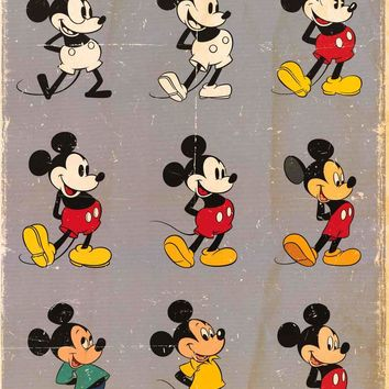 Mickey Mouse Evolution Poster 24x36