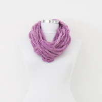 infinity scarf, i-cord cowl, infinity scarf, knit snood, necklace