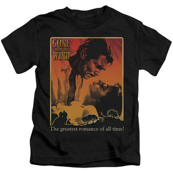 GONE WITH THE WIND/GREATEST ROMANCE-S/S JUVENILE 18/1-BLACK-LG(7)