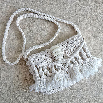 Vintage macrame bag, 1970s, small bag, Without lining, Bags and Purses, Handbags, Womens bag, Handmade, holiday gift, shabby Chic, MyWealth