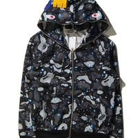 Bape Winter Casual Hoodies Unisex Jacket