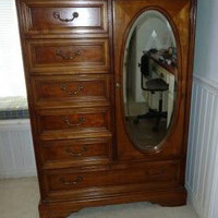 Vintage French Provincial Chifferobe / Armoire