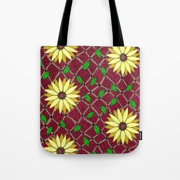 Hello Sunflower Tote Bag by Eneri