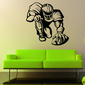 Vinyl Wall Decal Sticker Football Player Design #5087