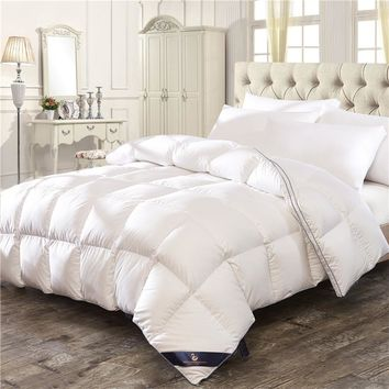 White Pink 100% Feather velvet Down Winter Thick Duvet Comforter Bedding Twin Queen King Size Quilt For Winter/Autumn/Summer