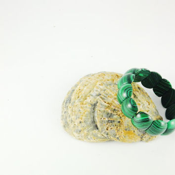 Genuine Malachite Bracelet Green Gemstone Bracelet Natural Malachite Gift For Him Gift For Her
