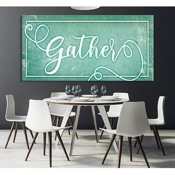 Gather Custom House Wall Art Sign Canvas Print Personalized House Gift