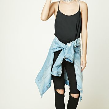 Shirred Chiffon Bodysuit