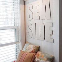 Seaside, Canvas Covered Letters