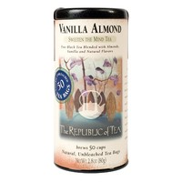 The Republic Of Tea Vanilla Almond Black Tea, 50 Tea Bags, Unique Blend Of Vanilla And Almond Tea