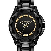 Women's KARL LAGERFELD '7' Faceted Bezel Bracelet Watch, 36mm