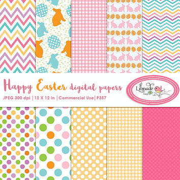 Easter digital paper, Easter scrapbook paper, Easter backgrounds, Easter patterns, Easter scrapbooking, P357