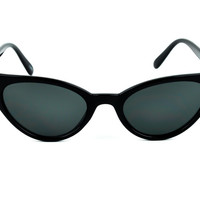 Black Cat Eye Sunglasses Sexy Rockabilly Cosplay