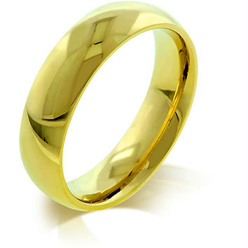 5 mm IPG Gold Stainless Steel Band