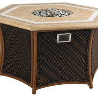 Lanai Fire Pit, Walnut, Outdoor Fire Tables
