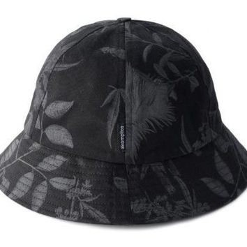 Magic Floral Bell Shaped Bucket Hat in Black