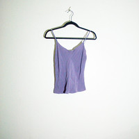 pastel purple spaghetti strap, 1990s 90s retro boho shirt top sleeveless spring summer 2014, soft grunge urban outfitters fashion vintage