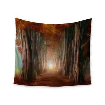 "Viviana Gonzalez ""Dreams Come True"" Orange Brown Wall Tapestry"