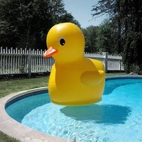 Giant Inflatable Rubber Ducky Pool Toy