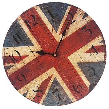 Vintage Shabby Chic Wood Retro Kitchen Wall Clock