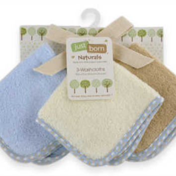 Triboro Just Born Organic Washcloths 3pk