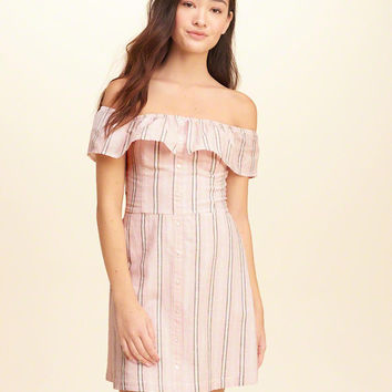 Girls Ruffle Off-The-Shoulder Woven Dress | Girls Dresses & Rompers | HollisterCo.com
