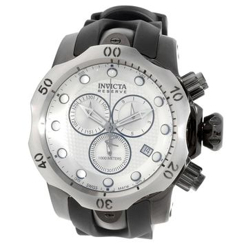 Invicta 16155 Men's Venom Chronograph Silver Dial Black Rubber Strap Dive Watch