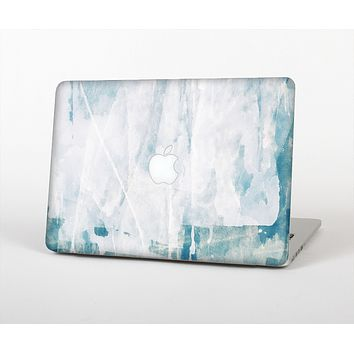 The Teal and White WaterColor Panel Skin Set for the Apple MacBook Pro 15""