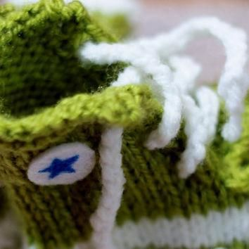 punk rock baby booties green converse inspired slippers