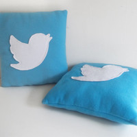 Twitter Bird Icon Fleece Pillow [IN-STOCK]