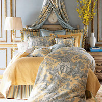 """Lutece Cypress"" Linens  - Horchow"