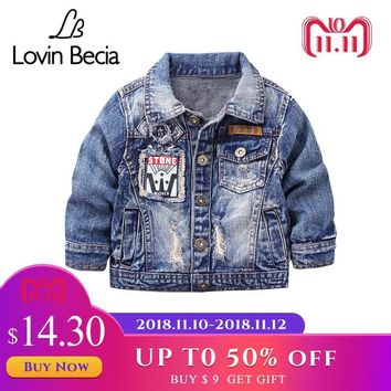 Trendy LovinBecia Kids Denim Jacket For Boys Coat Fashion Casual Clothing Children Outerwear Cowboy Toddler boys Canvas Jackets clothes AT_94_13