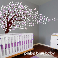 Nursery Wall Decal  Romantic cherry blossom tree by pinknbluebaby