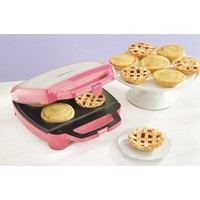 Deluxe Babycakes Nonstick Coated Pie Maker with Cross Cutting Tool