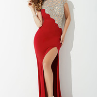Red Jersey Prom Dress 27020