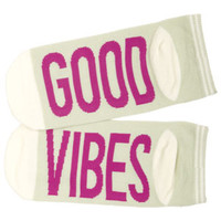 Word Socks - Good Vibes - Blue