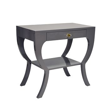 Worlds Away Sonya Lacquer Side Table
