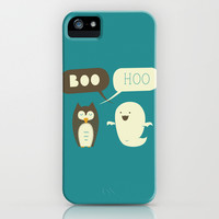 Boo Hoo iPhone & iPod Case by AGRIMONY // Aaron Thong