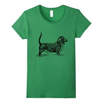 Basset Hound Dog T Shirt Love Dogs Graphic Tee Shirt