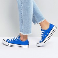 Converse Chuck Taylor All Star Ox Trainers In Royal Blue at asos.com