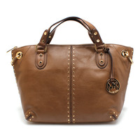 MICHAEL Michael Kors Dark Dune Astor Two-Way Leather Tote | zulily