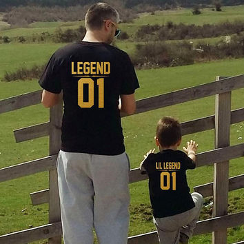 Dad Son shirts, Father and son shirts, Legend Lil Legend shirts, matching father son shirts, daddy and me outfit, Daddy son shirts